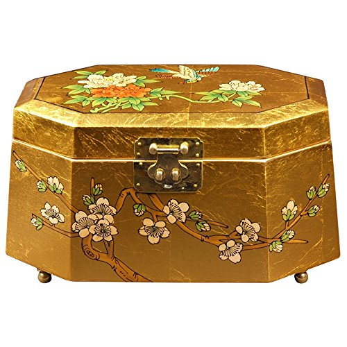 Oriental Furniture Antoinette Jewelry Box - Gold