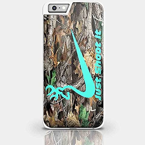 Nike Just Shoot It Deer Camo Browning for Iphone and Samsung Galaxy Case (iPhone 7 plus white) (Browning Cell Phone Cases)
