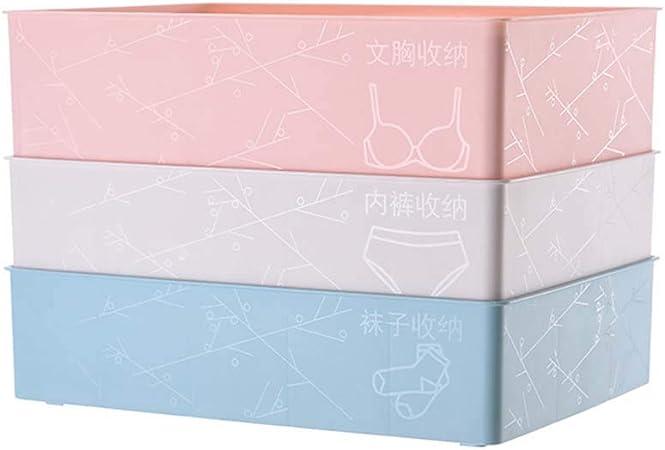 Ropa interior Organizador DrawerType Cajas de almacenamiento de plástico Bra Closet Ropa interior Organizador Divisor Kit para ropa interior Sujetador Calcetines Corbatas Caja de almacenamiento de ro: Amazon.es: Hogar