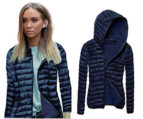 ABD Women's Packable Puffer Hooded Short Down Jacket Lightweight Winter Coat (Women Winter Down Hooded Coats)