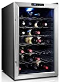 LIFE Home Home Life fur_fridge_cw80ad2_FBA Thermoelectric Stainless Steel LED 28 Bottle Wine Cooler, 29'' x 20'' x 18'', Black