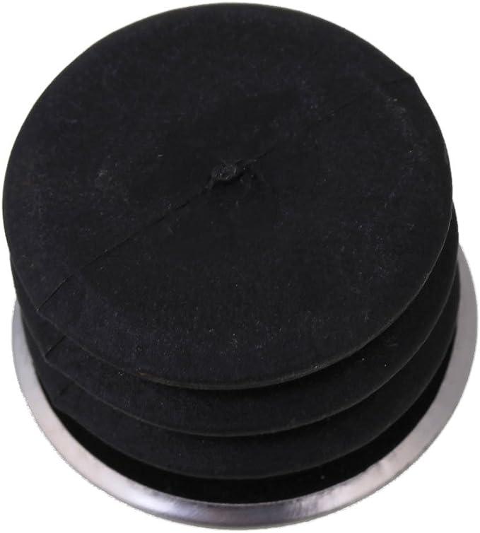 10 St/ück Runde Kunststoff Blindkappen Endkappen Rohreins/ätze Plug Bung f/ür Stahlbein 25mm Rohrendstopfen Silber und Schwarz