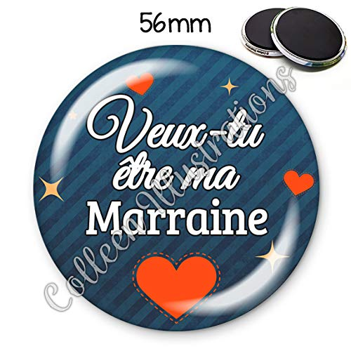 Magnet 56mm Super tata aimant frigo id/ée cadeau anniversaire no/ël bapt/ême naissance communion