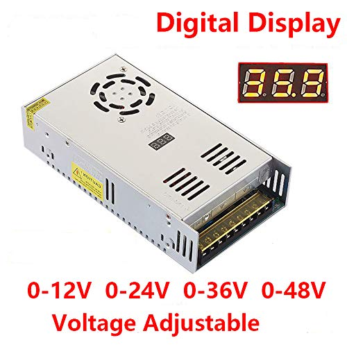 - Xunba 500W DC Output 0-12V 40A Adjustable DC Power Voltage stabilization Converter Digital Display Voltage Regulator Transformer Switching Power Supply AC 110/220V (SD500-0-12)
