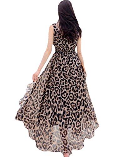 MatchLife - Vestido - vestido - para mujer Style4-Leopard