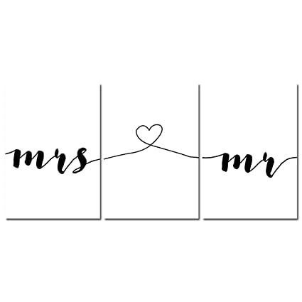 Amazon Com Mr Mrs Family Simple Quotes Wall Art Canvas Poster
