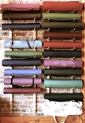 Foam Roller Yoga Mat Storage Rack. Holds 4