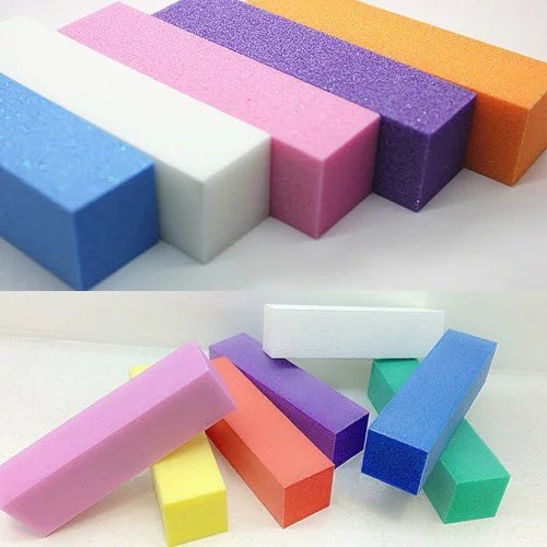 Brendacosmetic Pack of 10 Nail Buffer Block for Nail Gel,Sanding Block for Grit Acrylic - Deco Cocoa