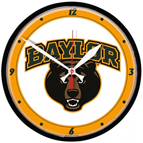 Bears Ncaa Wall Clock - NCAA Baylor Bears WinCraft Official Round Clock