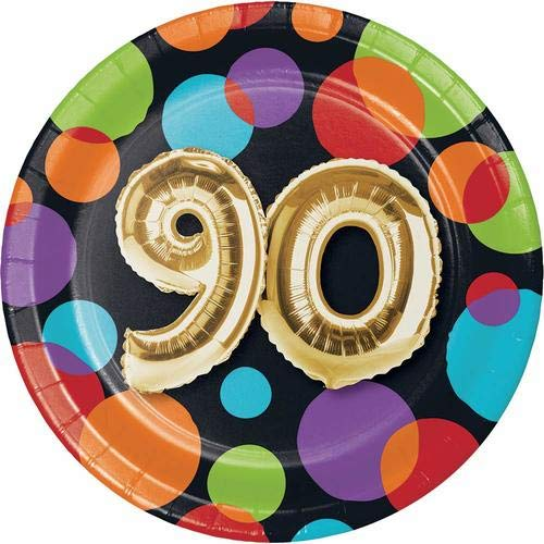 Creative Converting 332488 Metallic Gold Party Plate, 7'', Multicolor