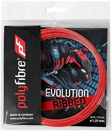 ポリファイバー エボリューション リブド(1.25mm)200Mロール 硬式テニス ポリエステル ガット Polyfibre EVOLUTION RIBBED(1.25mm)200m Roll Strings