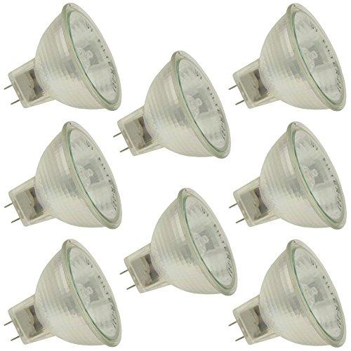Industrial Performance Q50MR16/FL/GY8/CG 120V, 50 Watt, MR16, Bi-Pin (GY8) Base Light Bulb (8 Bulbs)