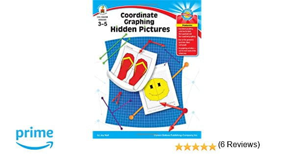 Counting Number worksheets graphing coordinates pictures worksheets : Amazon.com: Coordinate Graphing Hidden Pictures, Grades 3 - 5 ...