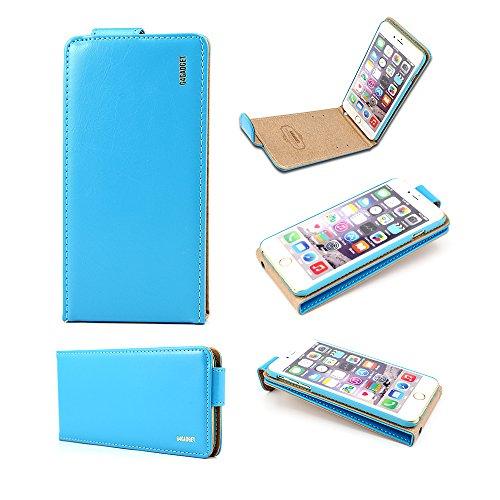 Iphone 6 più (5,5 pollici) Light Blue di vibrazione del cuoio della copertura della cassa con due slot per scheda per Apple Iphone 6 più (5,5 pollici)