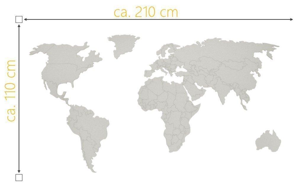 Weltkarte Limes Pinnwand Amazon De Handmade