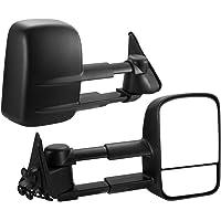 SAN HIMA VATM014A Extendable Towing Mirrors fit NISSAN PATROL GU Y60/Y61/Y62 97- ON Black