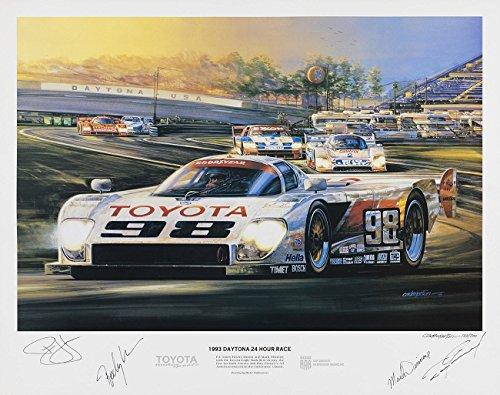 Dan Gurney Autographed 24 Hours of Daytona Racing Print
