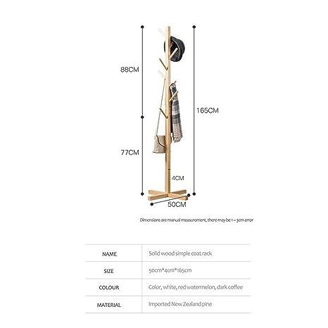 MTG Perchero de madera maciza Perchero de pasillo vertical ...