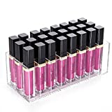 Gospire 24 Spaces Premium Acrylic Lip Gloss Lipstick Holder Case Storage Makeup Organizer Clear for Women