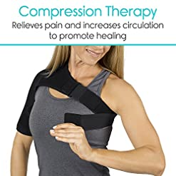 Vive Shoulder Brace – Rotator Cuff Compression Support – Men, Women, Left, Right Arm Injury Prevention Stabilizer Sleeve… Shoulder Supports fit