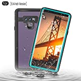 RedPepper Samsung Galaxy Note 9 Waterproof Case, IP68 Certified Full Sealed Underwater Protective Cover, Shockproof, Snowproof, Dirtproof for Outdoor Sports (Grass Blue)