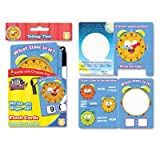 Wright On/Wipe Off Flash Cards, Tell Time, Grade K+, 9/PK,, Sold as 1 Package