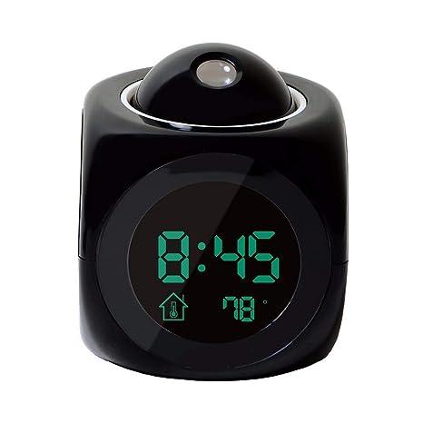 1 Paquete, Proyección LCD Tiempo de visualización del LED Reloj Despertador Digital Parlante Solicitud de