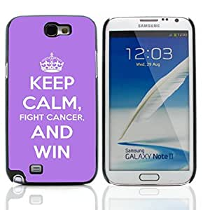 Graphic4You Keep Calm and Fight Cancer And Win Design Hard Case Cover for Samsung Galaxy Note 2 Note II