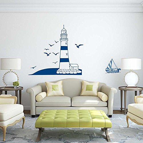 Euone Removable Lighthouse Wall Stickers Decals Art Mural Vinyl Home Room Decor DIY