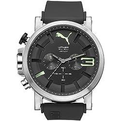 PUMA Men's PU103911001 Ultrasize 50 Analog Display Quartz Black Watch