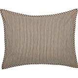 VHC Brands Stripe Sham, Standard, Charcoal