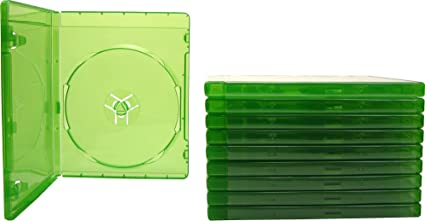 (10) XBOX ONE - Translucent Green - 12MM - Replacement Game Cases