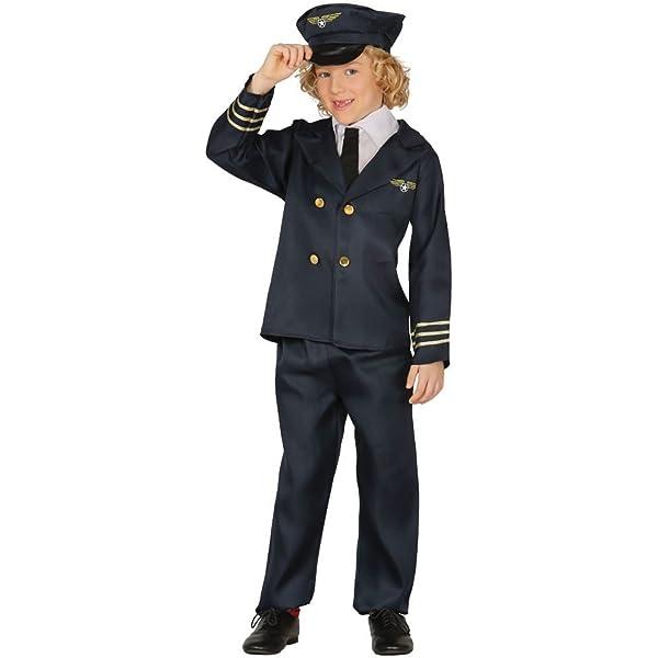 Guirca Rudy Disfraz piloto Aviones, Color Azul, 81383: Amazon.es ...