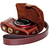 Protective Leather Camera Case, Bag for Canon PowerShot SX700 HS, SX710 HS