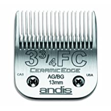 Andis CeramicEdge Carbon-Infused Steel Pet Clipper Blade, Size-3-3/4, 1/2-Inch Cut Length (64435)