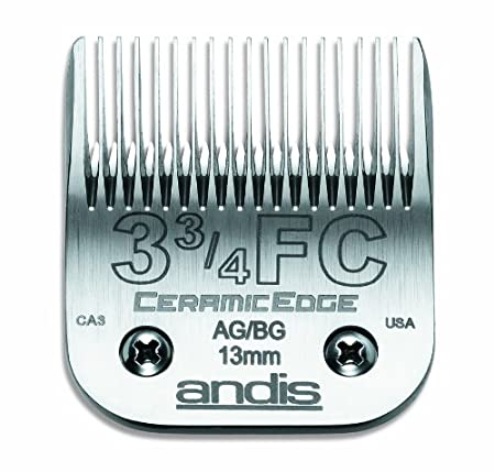 Andis CeramicEdge Carbon-Infused Steel Detachable Pet Clipper Blade Size-4FC 3/8-Inch Cut Length (64295)