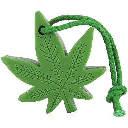 Hemp Soap On A Rope - Marijuana Leaf Shaped Cleanser For A Bath