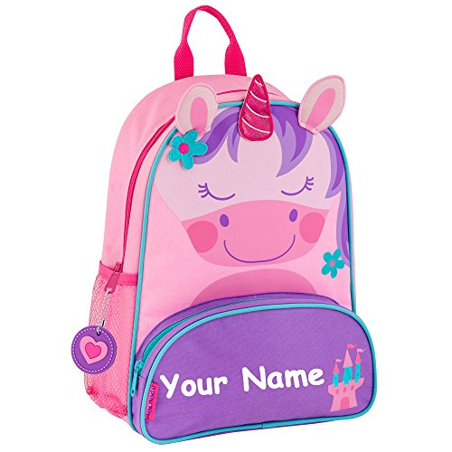 Stephen Joseph Personalized Sidekick Unicorn Backpack With Name]()