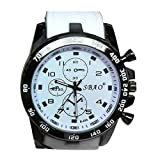 Quaanti Mens Outdoor Sport Watch Stainless Steel Luxury Sport Analog Quartz Modern Men Fashion Wrist Watch Brand Watches (White)