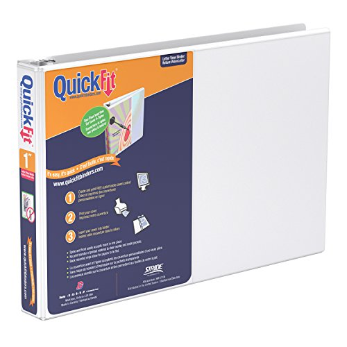 - QuickFit Heavy Duty 8.5 x 11 Inch Landscape Spreadsheet View Binder, 1 Inch, Round Ring, White (97110)