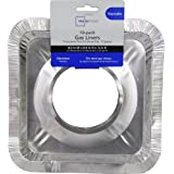 Gas Stove Drip Pan Foil Liners for Easy Clean-up (Disposable) -10-pack