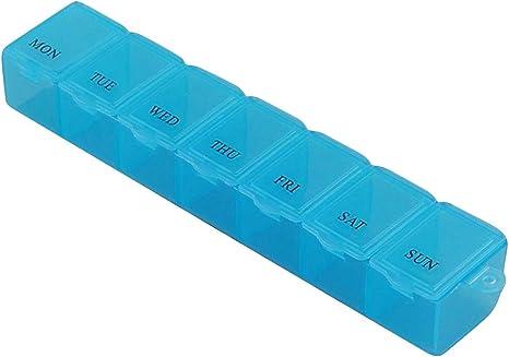contenitore per pillole contenitore per pillole e medicinali Contenitore settimanale per medicinali per 7 giorni