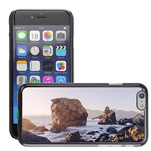 """Just Phone Cases Hard plastica indietro Case Custodie Cover pelle protettiva Per // M00421775 Waves Côte Shore eau de mer de l'océan // Apple iPhone 6 6S 6G PLUS 5.5"""""""