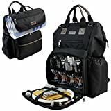 INNO STAGE Big Open Picnic Backpack for 4 with Cooler Compartment Bag
