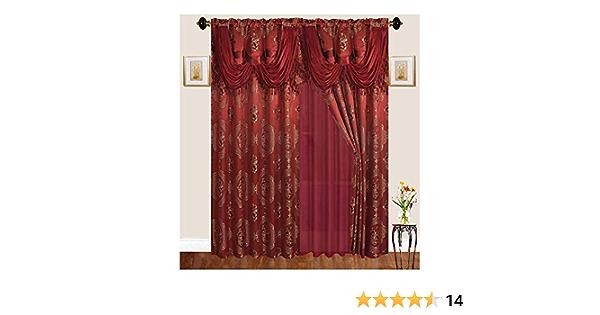 Gris 52/x 243,8 Juego de 2 Exclusiva casa Cortinas kilberry Woven Arandela de oscurecimiento habitaci/ón Superior Cortina de Ventana Panel