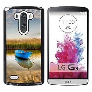 Be Good Phone Accessory // Dura Cáscara cubierta Protectora Caso Carcasa Funda de Protección para LG G3 D855 D850 D851 // Nature Boat