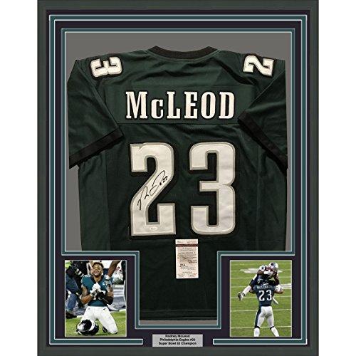 Framed Autographed/Signed Rodney McLeod Jr. 33x42 Philadelphia Eagles Green Football Jersey JSA COA (Eagles Signed Jersey Green)