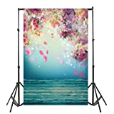 Face Book HOT !! Auwer 3x5FT Easter Vinyl Wood Wall Floor Photography Studio Prop Backdrop Background 3x5FT (A)