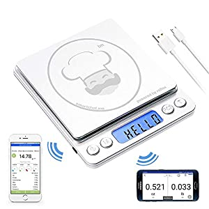 reflex 500g / 0.01g Digital Pocket Wireless smart food kitchen Scale grams and ounces USB rechargeable, portable… 10