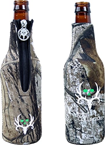 Bone Collector Camo Bottle with Lime Green/White Logo